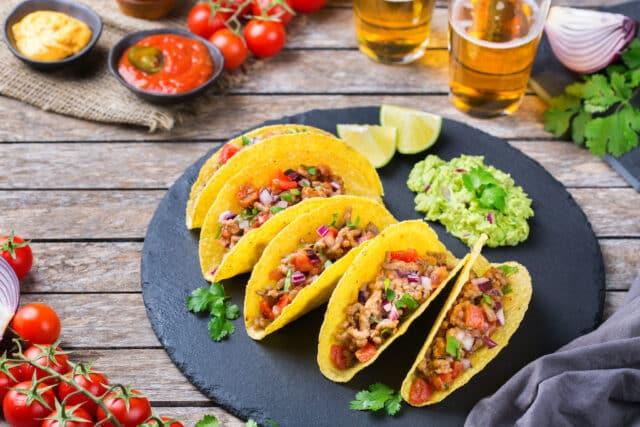 Platos más comunes en un restaurant mexicano en USA